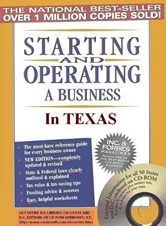 Amazon.com: Starting and Operating a Business in Texas (Starting ...
