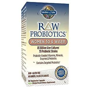 Garden of Life (GOL-11568) RAW Probiotics Women 50 & Wiser, 90 Vegetarian Capsules (Shipped Cold)