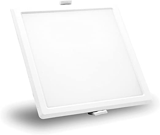 Syska 15 Watts Square LED Slim Recessed Panel Lights - RDL Series (Pack of 1, Warm White) at amazon