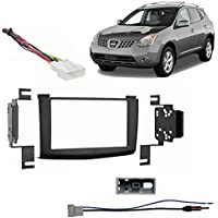 Fits Nissan Rogue 2008-2010 Double DIN Stereo Harness Radio Install Dash Kit