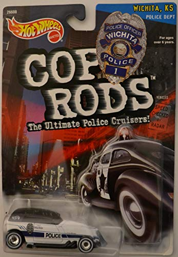 Hot Wheels Phaeton Wichita Police White HW Cop Rods The Ultimate Police Cruisers! Series 1:64 Scale Collectible Die Cast Model Car