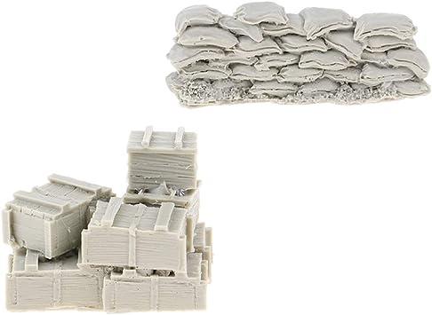 Amazon.es: Hellery Bolsa De Arena De Resina Modelo De Pared Soldado Caja De Municiones Conjunto De Base Adorno: Juguetes y juegos