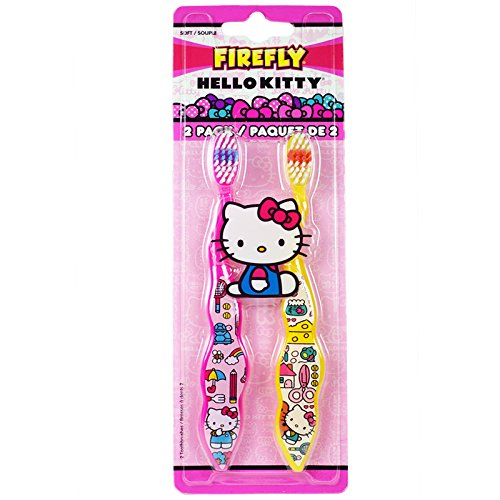 Dr. Fresh Firefly Hello Kitty Toothbrush, Soft (2 Pack)