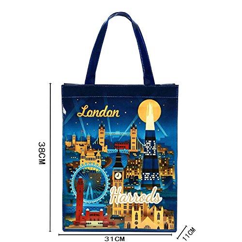 Dell'ambiente Tutela Shopping Spalla Capacità Impermeabile Bag La Della Signore Pvc Del Ilovelondon Grande r6rPqw7