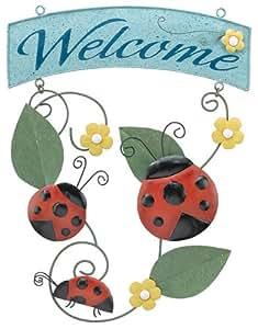 Ladybug Welcome Sign