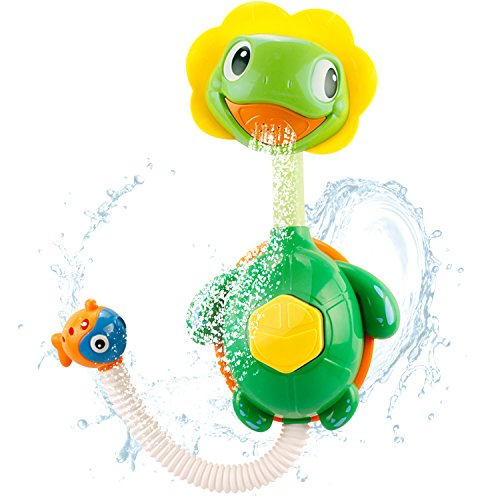 iPlay, iLearn Baby Bath Toys, Spray Water Pump Turtle w/ Hand Shower, Super Interactive, Bathtub Fun, Waterfall, Fountain Toy for Babies 2, 3, 4 Years Old, Kids, Toddlers, Boys, Girls, Infants & Baby