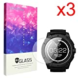 PowerWatch X Screen Protector, Lamshaw 9H Tempered Glass Screen Protector for MATRIX PowerWatch X Smartwatch (3 pack)
