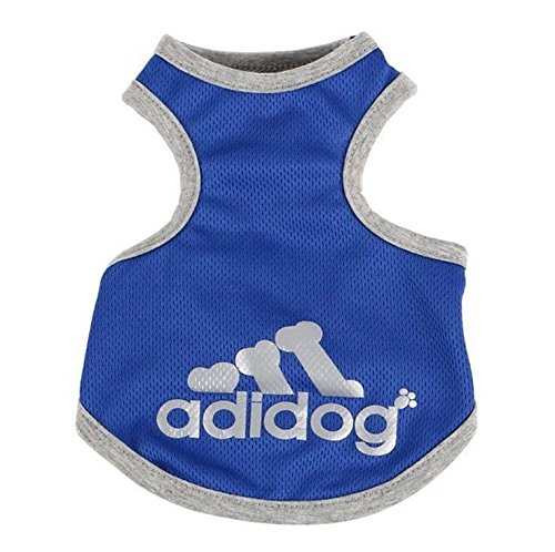OCSOSO Pet Tank T-Shirt Top Summer Dog Outfits Teacup Dog Clothes for Small Dogs (Blue, S)