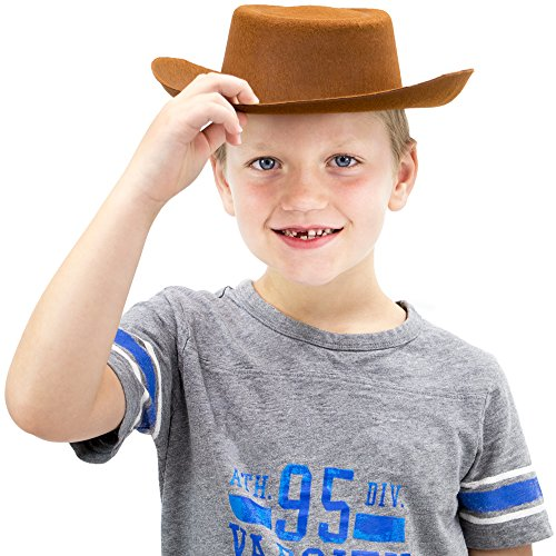 Herdsman Costume - Cowpoke Hat Halloween Costume Accessory - Dress Up Party Roleplay Headwear
