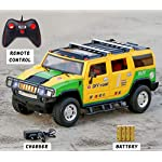 Zest 4 Toyz Remote Control Rechargeable Off Road Hummer Car | Remote Control Toy for Kids | Drive on Sandy, Rocky, Grassland (Assorted Color)
