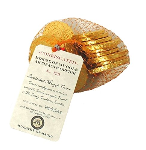 1/4 Pound Ministry of Magic Belgian Milk Chocolate Coins or Gelt