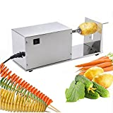 Mophorn Potato Slicer Food Grade Stainless Steel 10W Electric Potato Tornado Slicer Automatic Cutter Machine Spiral Potato Cutter Twister Spiral Zucchini (Automatic)