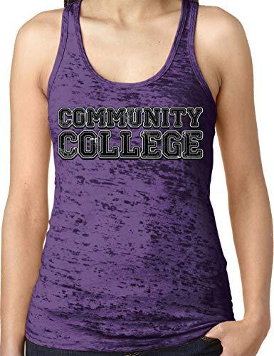 (Amdesco Ladies Community College Burnout Racerback Tank Top, Purple Rush XL)