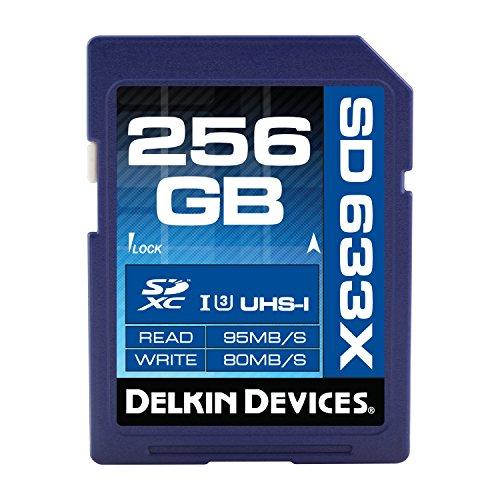 Delkin 256GB SDXC 633X UHS-I (U3) Memory Card(DDSD633256GB-A) by Delkin