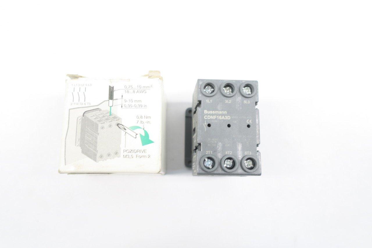 NEW COOPER BUSSMANN CDNF16A3D 25A 600V-AC NON-FUSIBLE DISCONNECT SWITCH D587519