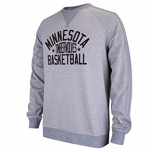 Adidas Crew Neck Sweatshirt (Minnesota Timberwolves NBA Adidas Men's Gray Raglan Crewneck Fleece Sweatshirt (2XL))