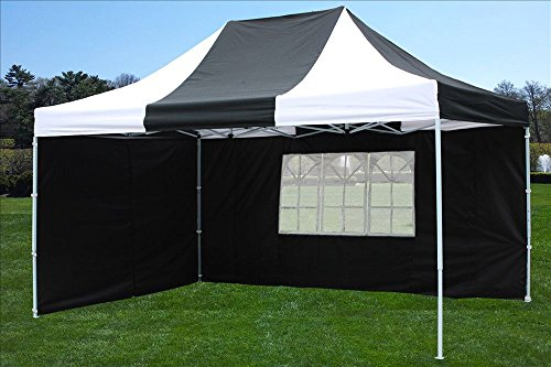 10x15 Pop Up Canopy Party Tent EZ Black/White - F Model Upgraded Frame By DELTA Canopies
