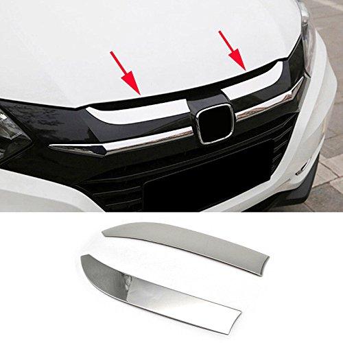 UltaPlay 2pcs Chrome Car Front Hood Bonnet Grille Cover Trim Garnish For Honda HR-V HRV 2014-2018 Model Car Exterior Accessories Styling