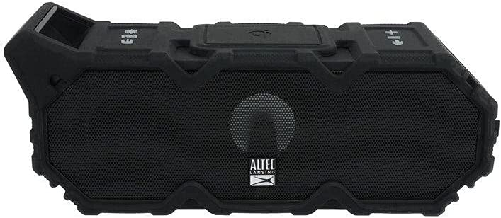 Altec Lansing LifeJacket XL Jolt with Lights, Built In Qi Wireless Charger, Waterproof, Snowproof, Shockproof and it Floats in Water, Up to 20 Hour Battery Life, Black