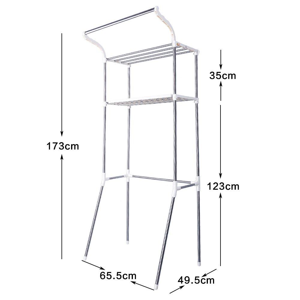 blanco estantes 2-tier Baoyouni Organizador de ba/ño m/ás aseo almacenamiento Rac
