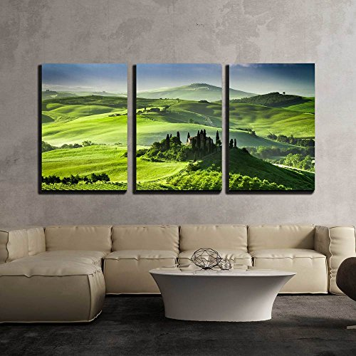 Beautiful Sunrise in the Valley of San Quirico D Orcia x3 Panels