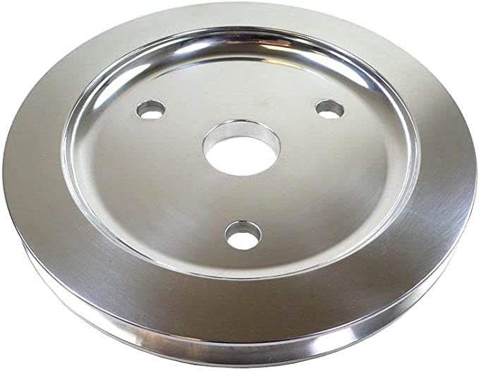 Racing Power Company R9602 Chrome SWP Crank Pulley for Small Block Chevy