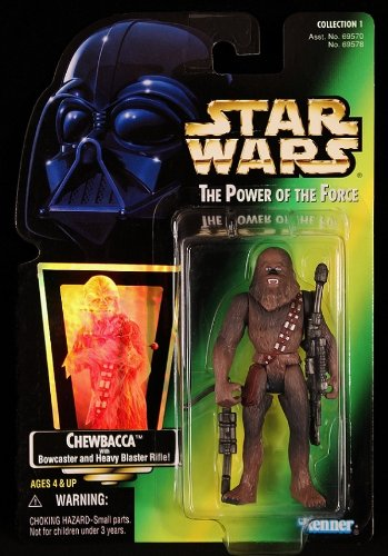 Star Wars Power of the Force Green Hologram Card Chewbacca with Bowcaster and Heavy Blaster Rifle (Blaster Heavy)