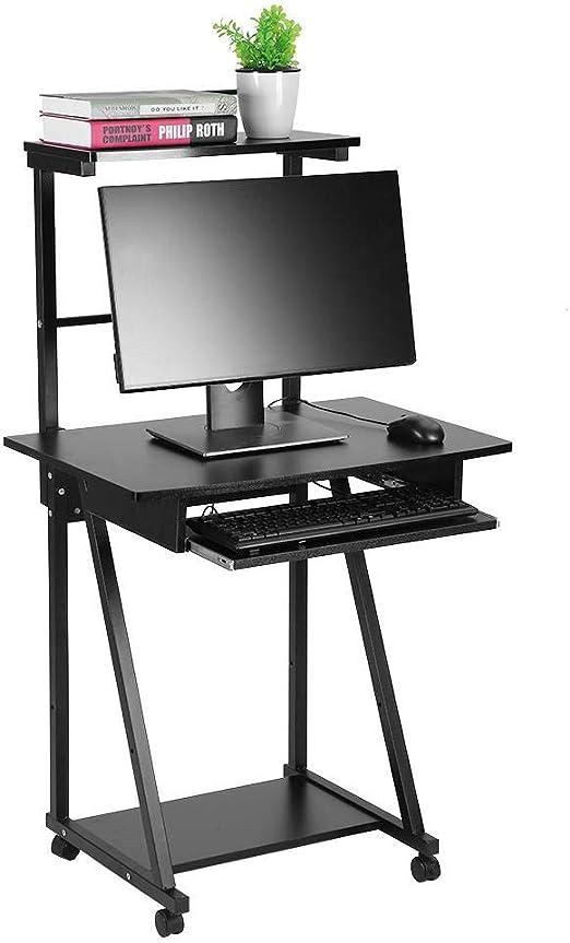 YXZQ Estante, Escritorio para computadora, Mesa de Madera para ...