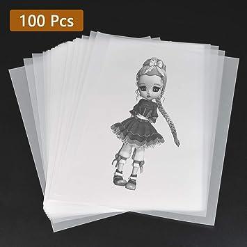 YOTINO 100 Hojas Papel de Calco A4 Transparente Papel ...