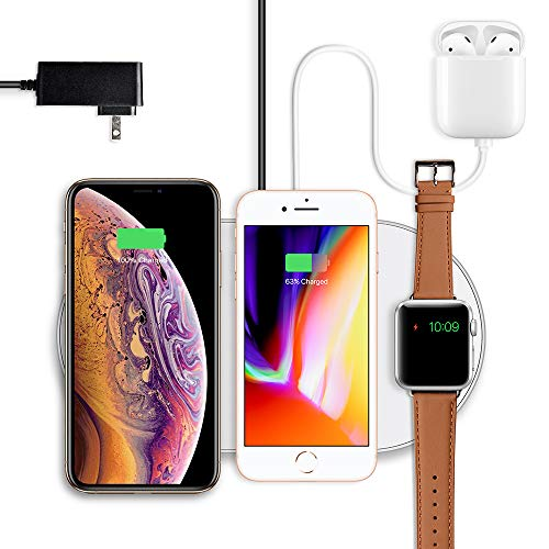 Wuloo Wireless Charger, Fast Wireless Charger Stand Multiple Function Compatible with iPhone Xs...