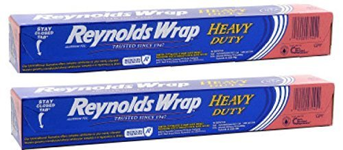 Reynolds Wrap Heavy Duty Aluminum Foil 50 Square Feet ~ 2 Pack