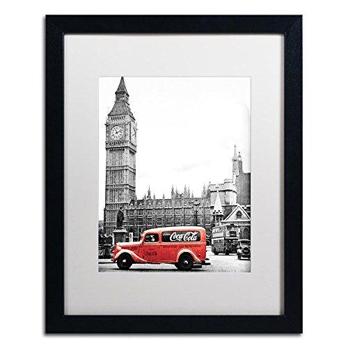 (Trademark Fine Art COKE04-B1620MF Color Splash Vintage Photography 4 by Coca Cola, White Matte, Black Frame 16x20-Inch,)