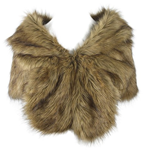 i-KindPec Faux Fur Wedding Shawl Perfect for Wedding/party/show/Costume (Prairie Fox Plus size) -