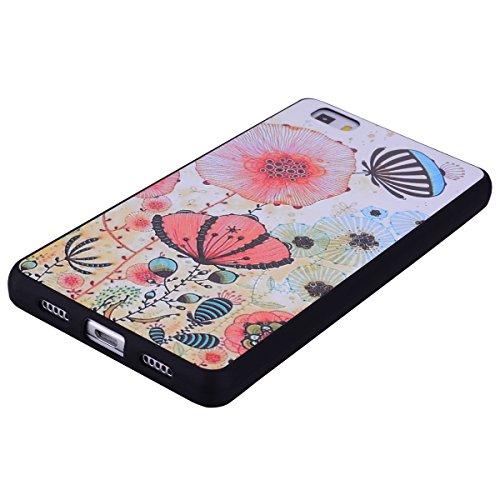 Funda Huawei P8 Lite Carcasa, Mosoris Ultra Delgado Suave TPU Silicona Carcasa Parachoques Tapa Flexible Mate Opaco Goma Protectora Caso Anti-Aranazos Espalda Movil Celular Cubierta Absorcion de Impac color 7
