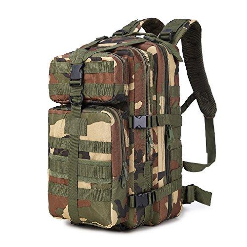 A Sac Décontracté Militaire Armé Rophie Woodland Camouflage Camping Voyage Dos Pour Etanche vert q1w65fE5