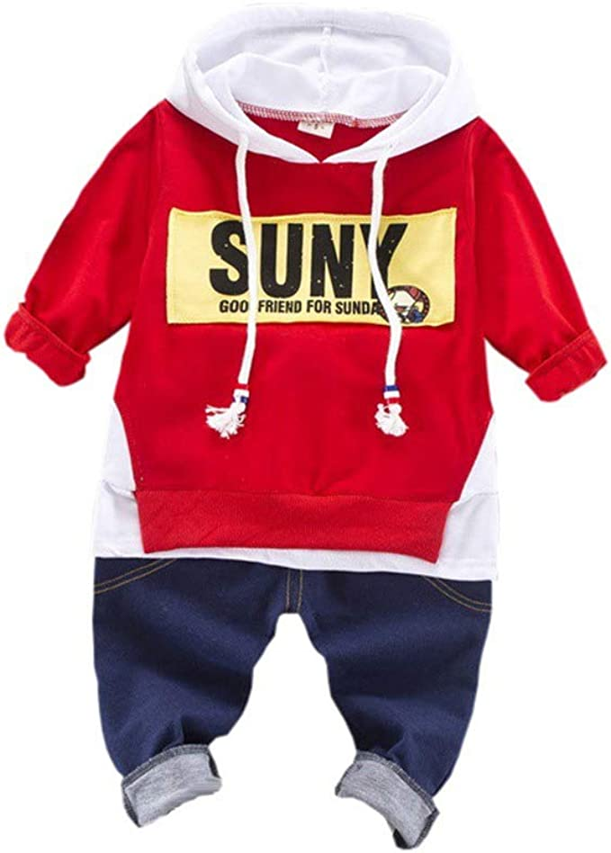 Hoodie Zip Up Vest Tops Gyratedream Baby Clothes Set Tracksuits Striped T-Shirt Jeans Trousers 3Pcs Denim Outfits for 1-5 Years Kids