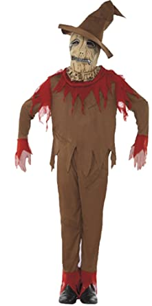 Honeystore Unisex Scream Scarecrow Ghostface Scary Halloween Costumes with Hat  sc 1 st  Amazon.com & Amazon.com: Honeystore Unisex Scream Scarecrow Ghostface Scary ...