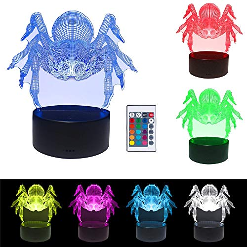 3D Illusion Lamps LED Night Light - 7 Color USB Lamp Remote Control Touch Switch Lamps Desk Decoration for Baby Kids Adult (Lamp Zoo Baby)