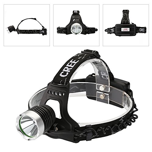 AGM 1600LM CREE XML T6 LED Adjustable Headlamp Waterproof Bicycle Headlight with USB Charging Cable