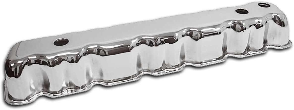 For 64-88 Amc Jeep 199-232-258 Straight Inline 6 Cylinder Valve Cover Chrome