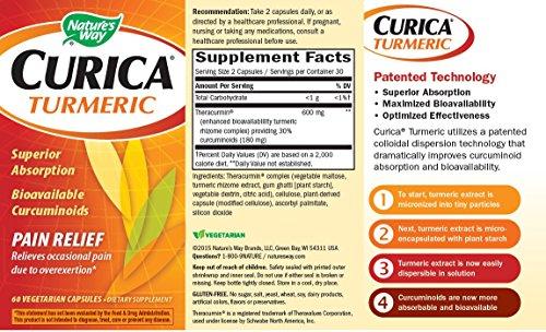 51rwCt0IKRL - Nature's Way Curica Turmeric Vegetarian Capsules, 60 Count