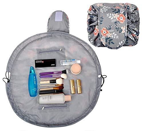 51900cbf57b Drawstring Lazy Makeup Bag Waterproof Toiletry Bag Fashion Travel Organizer  Large Cosmetic Pouch (Light Gray