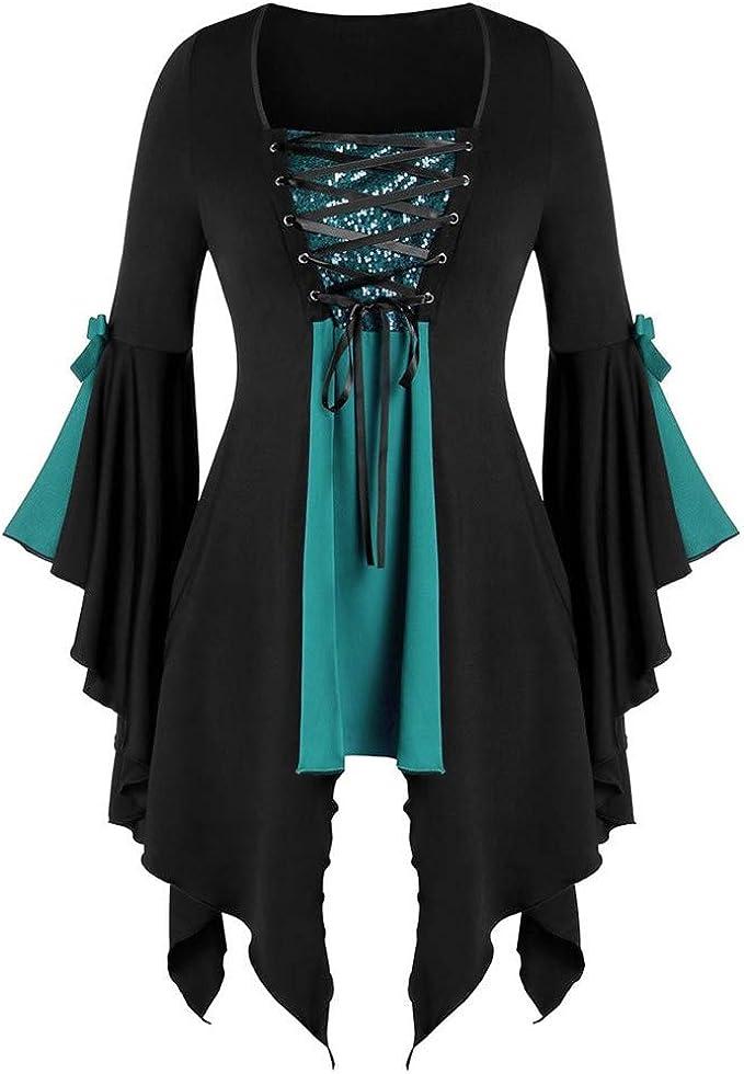 Amazon.com: LOKODO - Disfraz gótico de Halloween para mujer ...