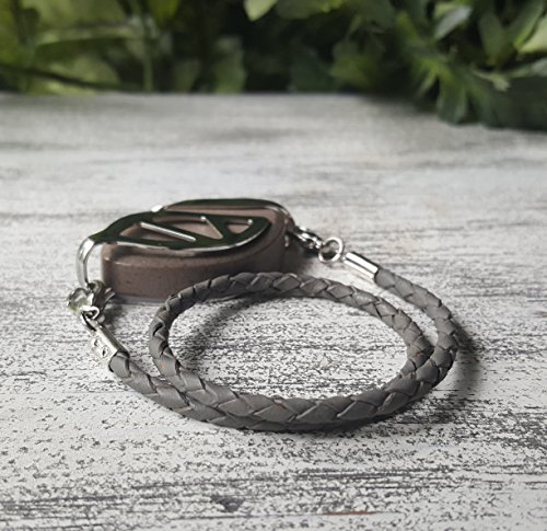 Gray Wrap Leather Bolo Bracelet for Bellabeat LEAF
