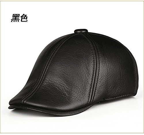 - GAOQIANGFENG Winter casual beret leather for men casual plus cotton cotton winter cap