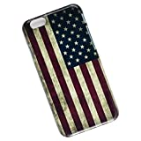Slim Phone Case for iPhone 6, 6s. USA Flag.