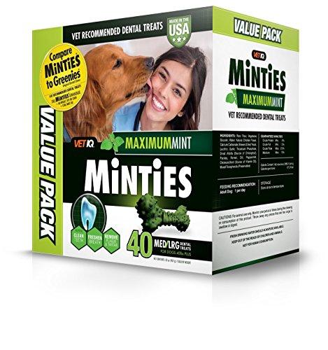 Vetiq Minties Dog Dental Bone Treats, Dental Treats For Dogs, Medium/Large, 32Oz