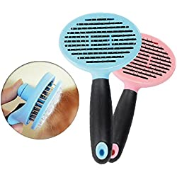 Accfun Pet Deshedding Tool,Dog and Cat Grooming Brush For Shedding,Pet Deshedding Massage Comb for Pet's Long & Short Hair Shedding (Blue)