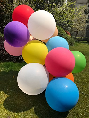 GuassLee 10pcs Big Balloon 36 Inch Round Latex Giant Balloon Large Thick Balloons for Photo Shoot/Birthday/Wedding Party/Festival/Event/Carnival Decorations Assorted