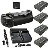 Battery Grip Bundle F/Nikon D600, D610: Includes MB-D14 Replacement Grip, 4-Pk EN-EL15 Long-Life Batteries, Rapid Dual Charger, UltraPro Accessory Bundle